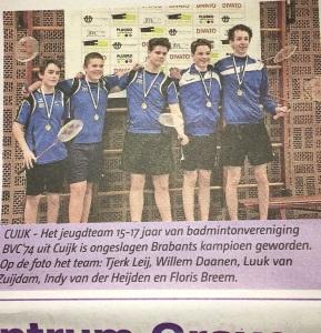 krant kampioenen